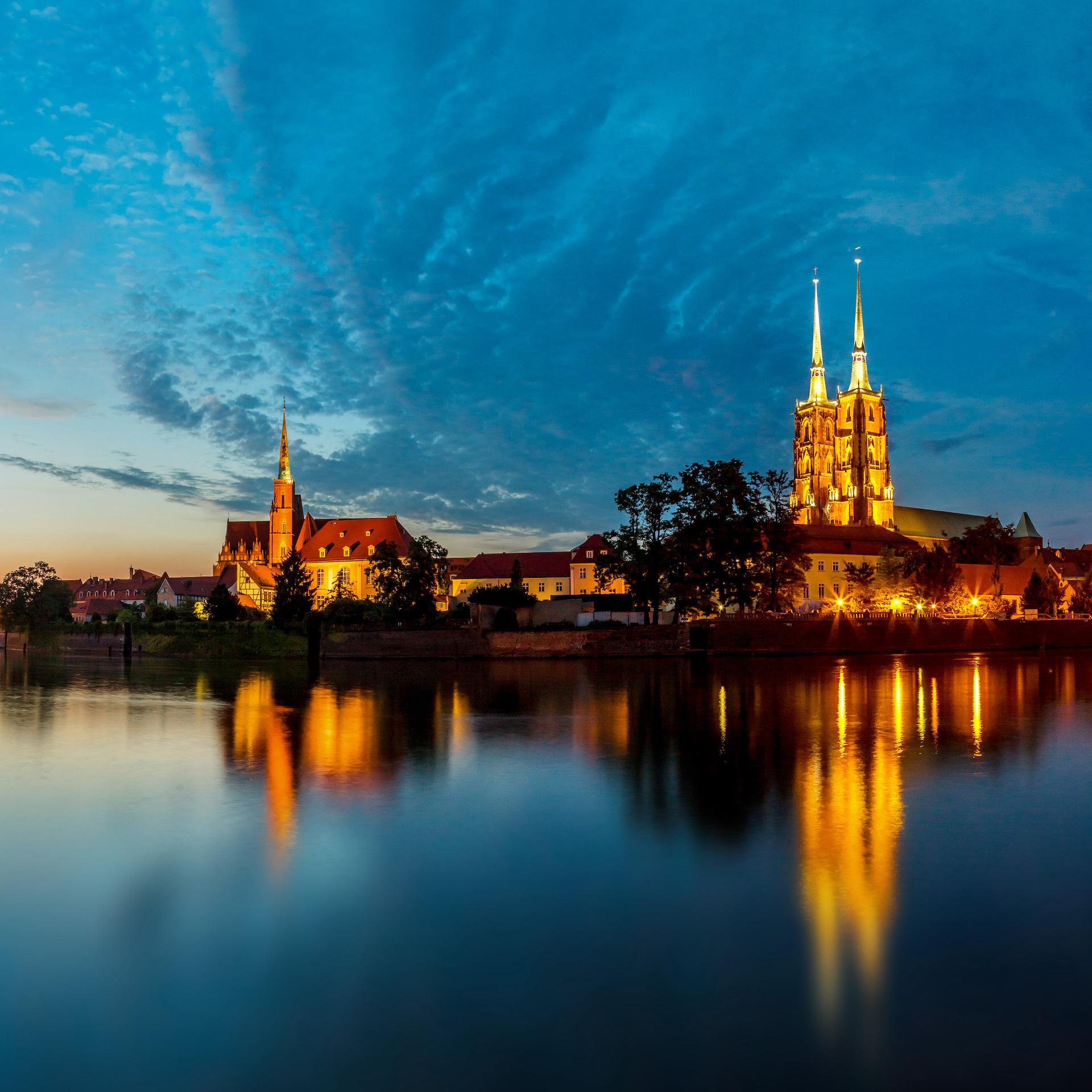 Wrocław Nocą MicroHome Promanady