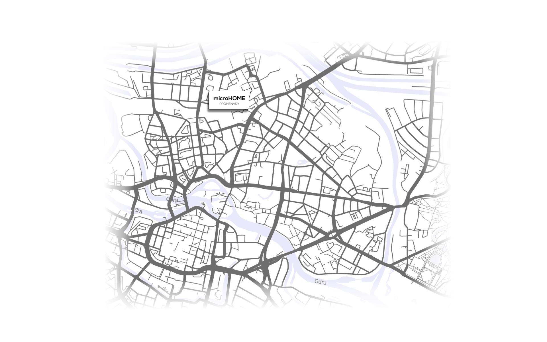 microHOME mikroapartamenty Wrocław Dom Developer mapa